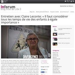 Entretien avec Claire Leconte: «Il faut considérer tous les temps de vie des enfants à égale importance»