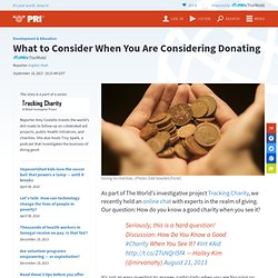 What to Consider When You Are Considering Donating