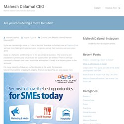 Are you considering a move to Dubai? - Mahesh Dalamal CEO
