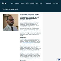 Dr Richard Shaw considers Coronavirus and invasive species - CHAP