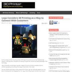 Lego Considers 3D Printing as a Way to Connect With Customers
