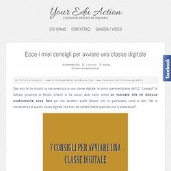 Ecco i miei consigli per avviare una classe digitale