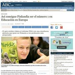 Así consigue Finlandia ser el número 1 en Educación en Europa