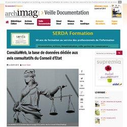 ConsiliaWeb, la base de données dédiée aux avis consultatifs du Conseil d'Etat