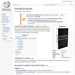 Consilience (book)
