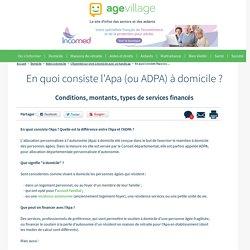 En quoi consiste l'Apa (ou ADPA) à domicile ? - 26/12/16