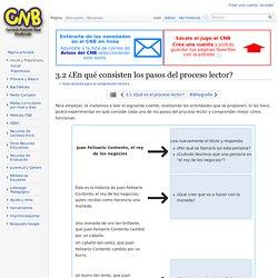 3.2 ¿En qué consisten los pasos del proceso lector? - CNB