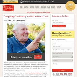 Consistency Vital When Caring for Seniors with Dementia