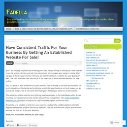 Have Consistent Traffic For Your Business By Getting An Established Website For Sale!
