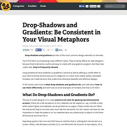 Drop-Shadows and Gradients: Be Consistent in Your Visual Metapho