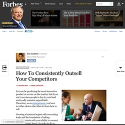 How To Consistently Outsell Your Competitors