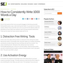How to Consistently Write 1000 Words a Day