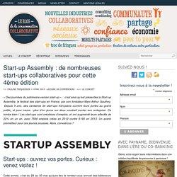 Start-up Assembly : de nombreuses start-ups collaboratives pour cette 4ème édition