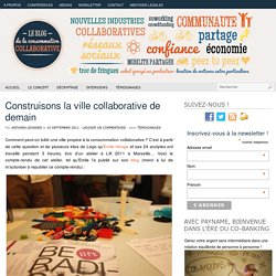Construisons la ville collaborative de demain