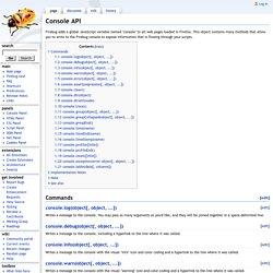 Console API - FirebugWiki