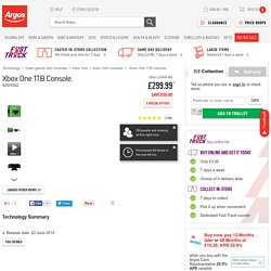 Buy Xbox One 1TB Console at Argos.co.uk - Your Online Shop for Xbox One consoles.