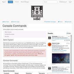 Console Commands - StarMade Wiki