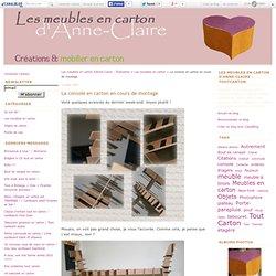 La console en carton en cours de montage - Les meubles en carton d'Anne-Claire - Toutcarton