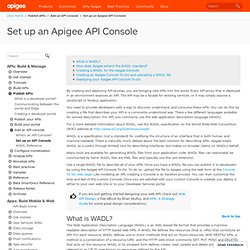 Create a free API Console for your developer portal