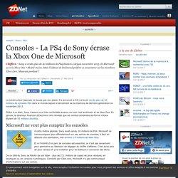 Consoles - La PS4 de Sony écrase la Xbox One de Microsoft - ZDNet