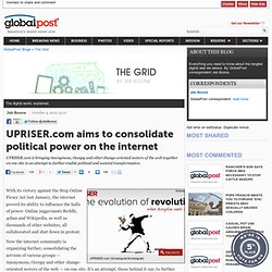 UPRISER.com to consolidate web's political power