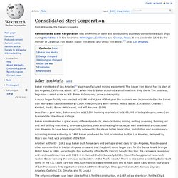 Consolidated Steel Corporation