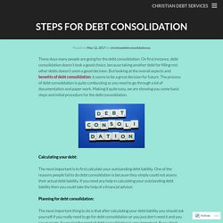 Steps for Debt Consolidation
