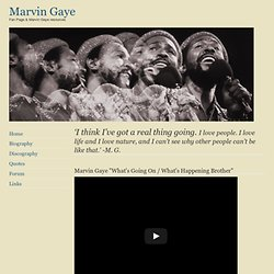 The Marvin Gaye Page