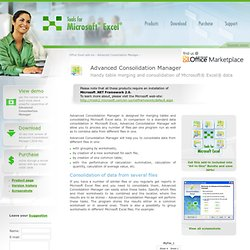 Advanced Consolidation Manager - Microsoft Excel add-in