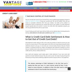 Credit Card Debt Consolidation & Settlement - Get Out Of Debt Easily