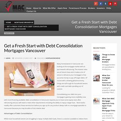Debt Consolidation in Vancouver offers relief from Debt