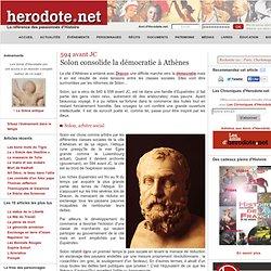 621 à 461 avant JC : naissance de la démocratie à Athènes avec Dracon, Solon, Pisistrate, Thémistocle...