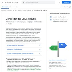 Use canonical URLs - Search Console Help