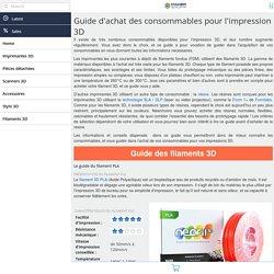 Guide d'achat des consommables d'impression 3D - Makershop.fr
