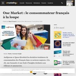 One Market : le consommateur français à la loupe - Etudes / Consumer Insight