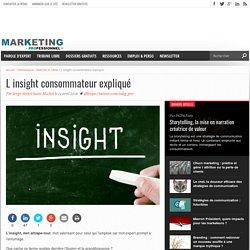 Définition de l'insight consommateur. Valeur des marques et insight