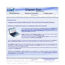 sondage rémunéré, avis de consommateur par Internet, questionnaire online, sondage enquête online.