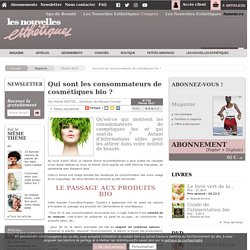 Qui sont les consommateurs de cosmétiques bio ? - Article de Février 2017