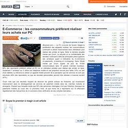 E-Commerce : les consommateurs préfèrent réaliser leurs achats sur PC