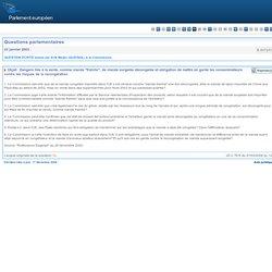 Dangers liés à la vente, comme viande fraîche, de viande surgelée décongelée et obligation de mettre en garde les consommateurs contre les risques de la recongélation - E-0072/2003