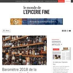 Baromètre 2018 de la consommation des boissons alcoolisées - Le monde de l'épicerie fine