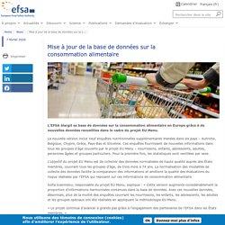 EFSA 07/02/20 Mise à jour de la base de données sur la consommation alimentaire S