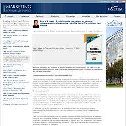 Avis d'Expert : Evolution du marketing en grande consommation alimentaire : profils des CP, évolution des études