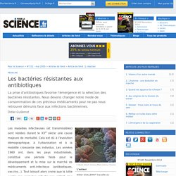 Consommation d'antibiotiques et résistance des bactéries