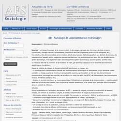 RT11 Sociologie de la consommation et des usages