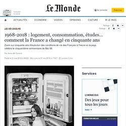 1968-2018: logement, consommation, études… comment la France a changé en cinquante ans