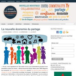 Consommation collaborative et contagion du partage