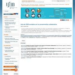 Avis du CESE européen sur la consommation collaborative