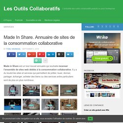 Made In Share. Annuaire de sites de la consommation collaborative
