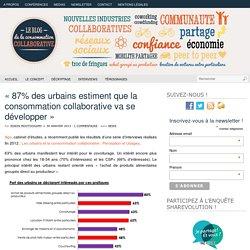 «87% des urbains estiment que la consommation collaborative va se développer»
